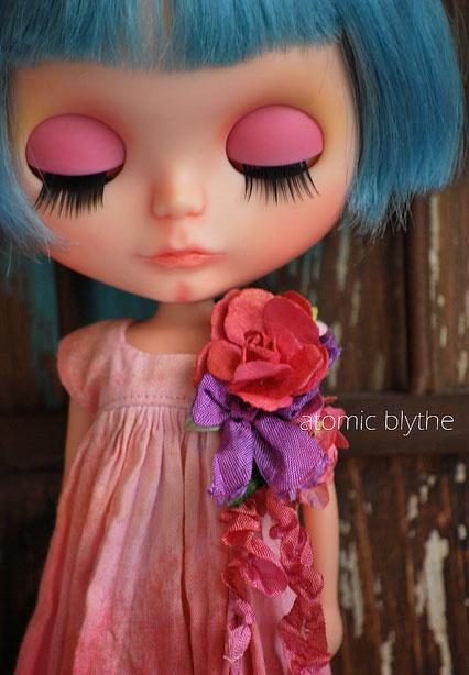 кукла ручной работы, розовый