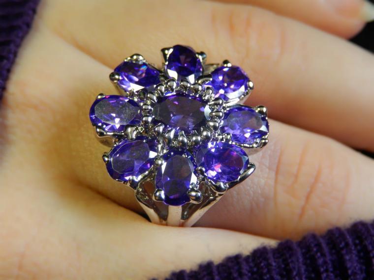 аукцион, аукцион с нуля, кольцо из серебра, аметист, подарок на новый год, скидка на украшения, подарок женщине, шик