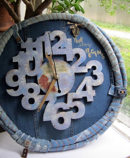 Часы из джинсы своими руками