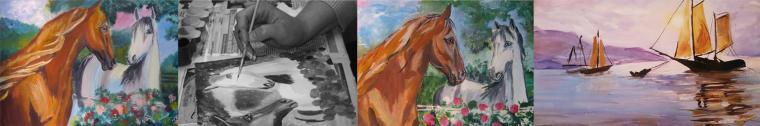 мастер-класс по живописи, живопись, картина в подарок, обучение рисованию, лес, олени, деревья