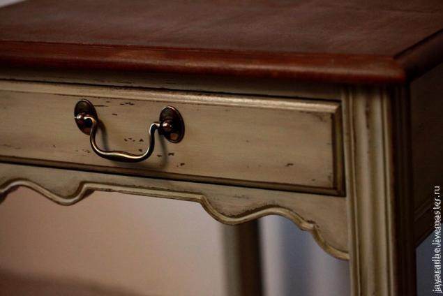 перекраска столика, старение