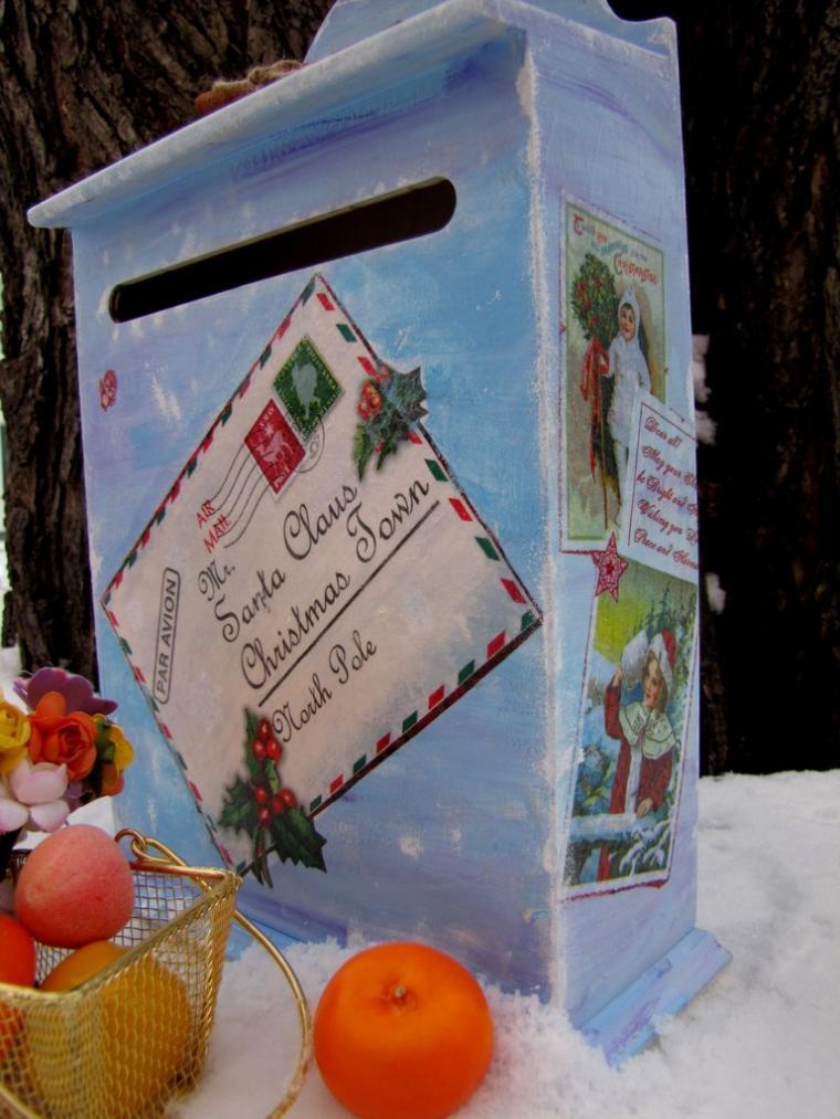 Ящик для новогодней почты своими руками
