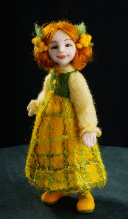 Валяние куклы из шерсти своими руками