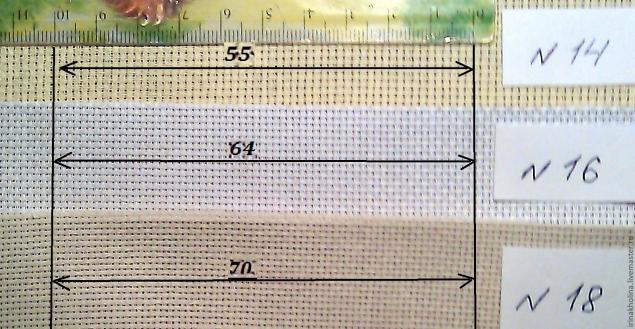 Посчитать размер вышивки 90