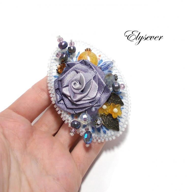 авторские украшения, броши, цветы
