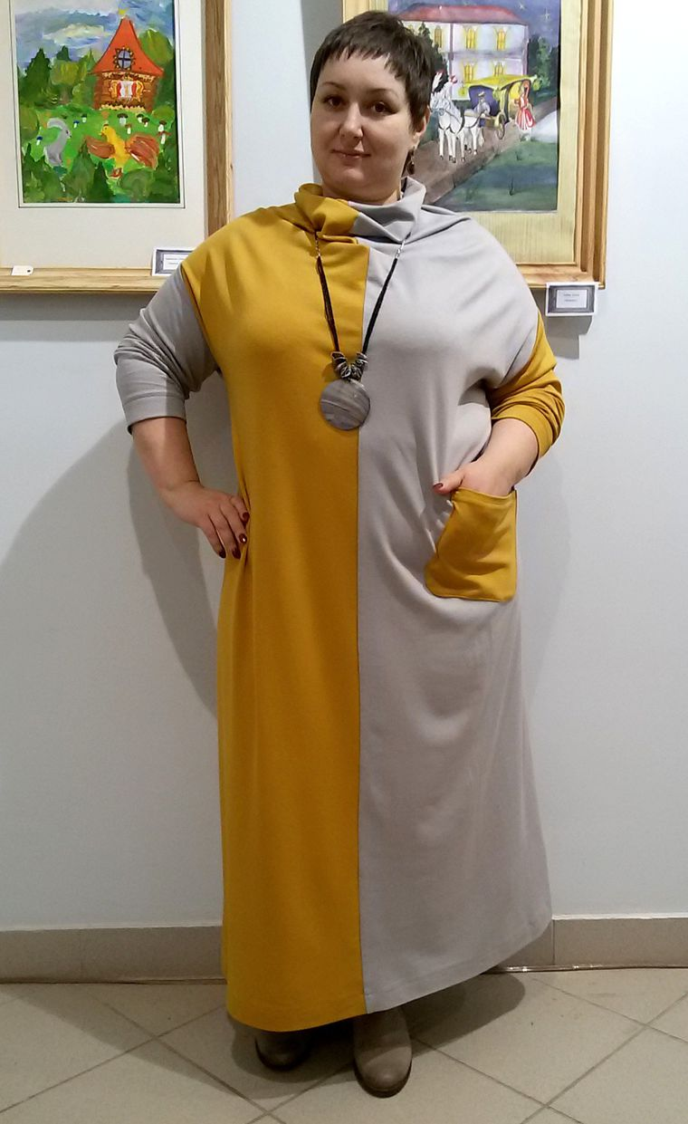 Платье шахматка трикотажное, фото № 1