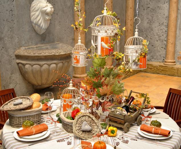 прованский стиль, сервировка стола, тыква