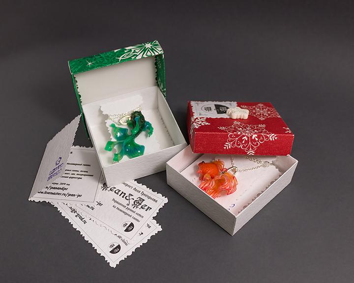 зимняя упаковка, коробочки jean-jer, упаковка для украшений, почтовая пересылка