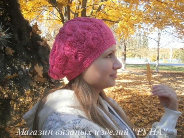 осенняя шапка и снуд