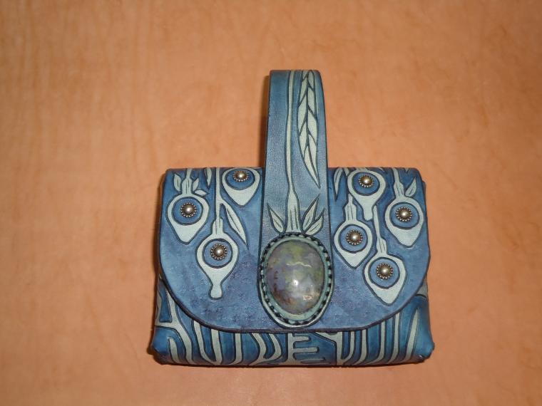 сумка, функциональный подарок, сумка кожаная, синий