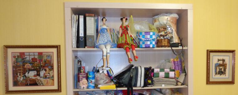 швейная машинка, кукла ручной работы