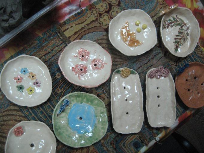 природная глина, обжиг керамики