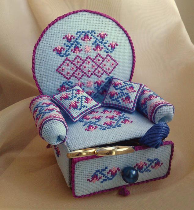 Игольница с вышивкой своими руками