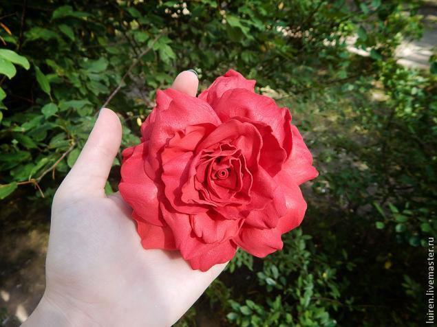 Реалистичная роза из фоамирана своими руками, фото № 19