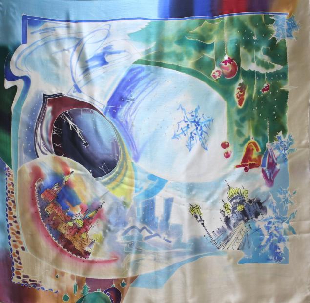 платок, платок батик, батик, новый год, подарок на новый год, новогодний подарок, новогодние подарки