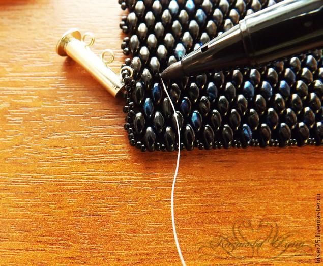 Как сделать из бисера браслет на руку для начинающих 47