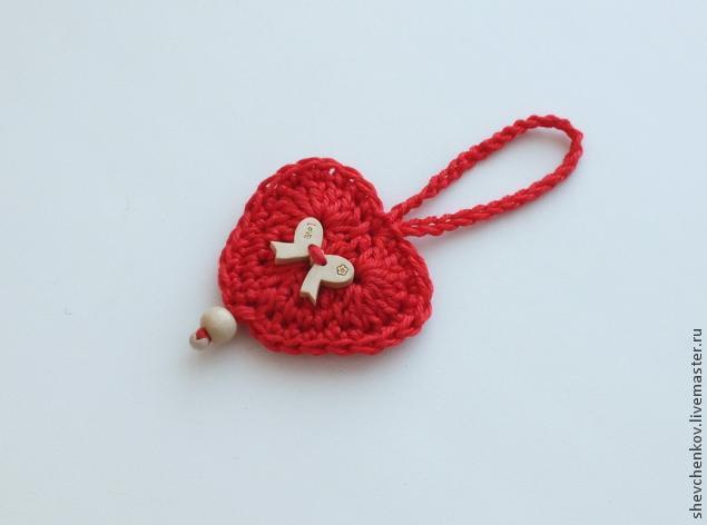 МК Вяжем сердечко - брелок (много фото), фото № 31