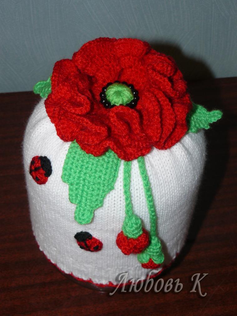 шапочки ручной работы, шапка с цветком