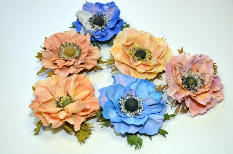 мастер-класс, светлана ридзель, украшения, ревелюр, цветы своими руками, фоамиран