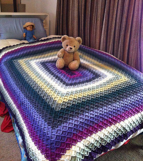 Bavarian Crochet Afghan, via Flickr. ~ lovely colors