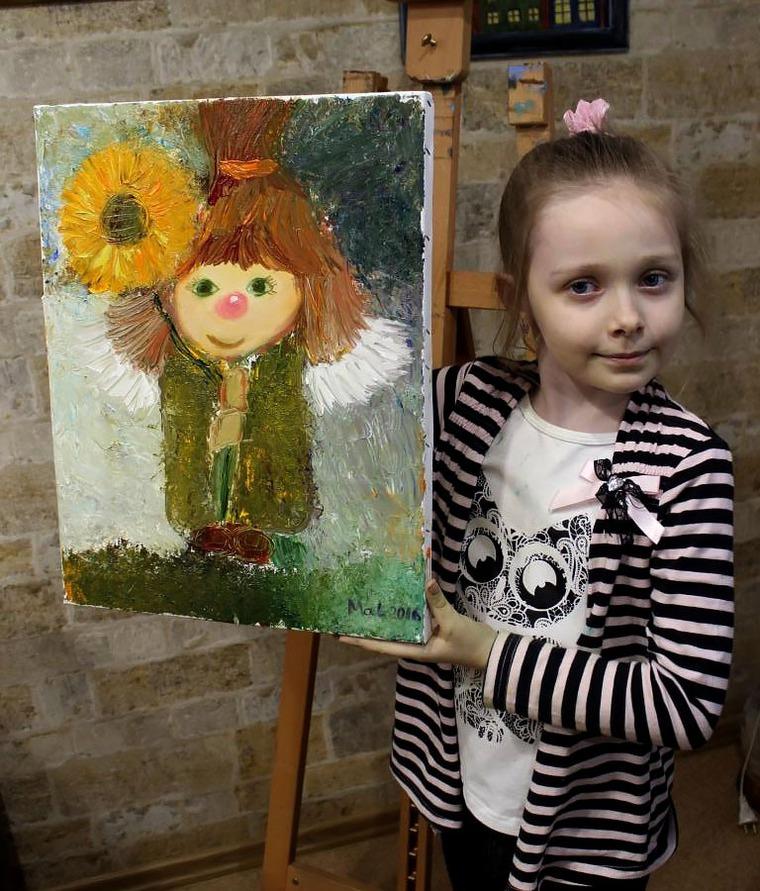 Мастер класс по живописи, картина в детскую