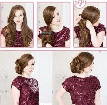 Прически на длинные волосы на бок в домашних условиях своими руками