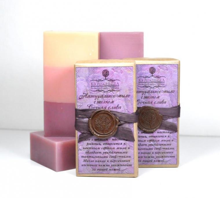 шелковое мыло, мыло с шелком, фруктовое мыло, натуральное мыло, нежное мыло