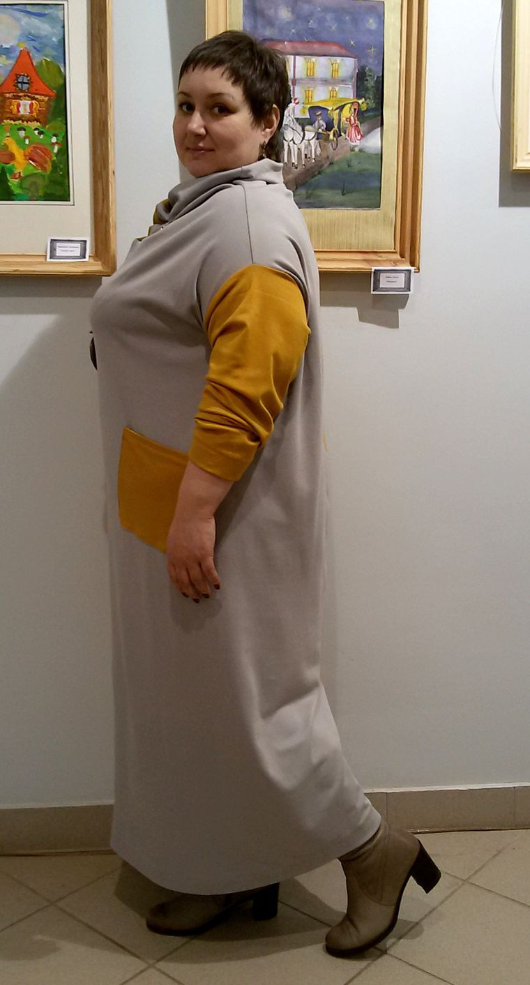 Платье шахматка трикотажное, фото № 3