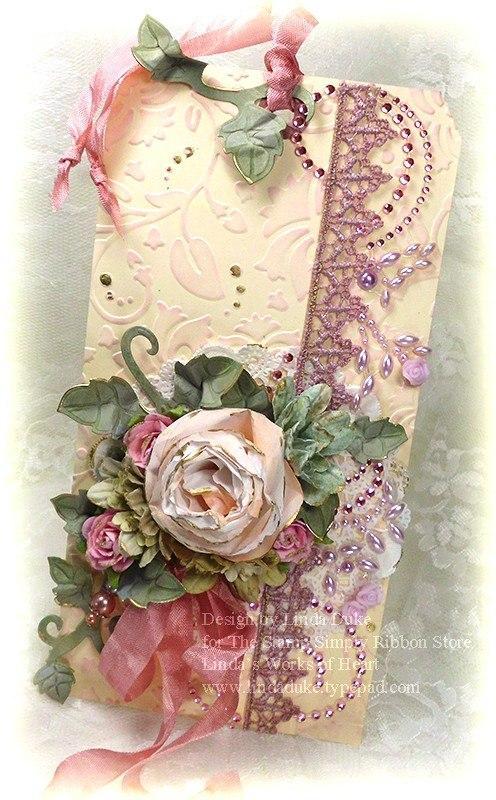 Пара, открытка с розами ручной работы