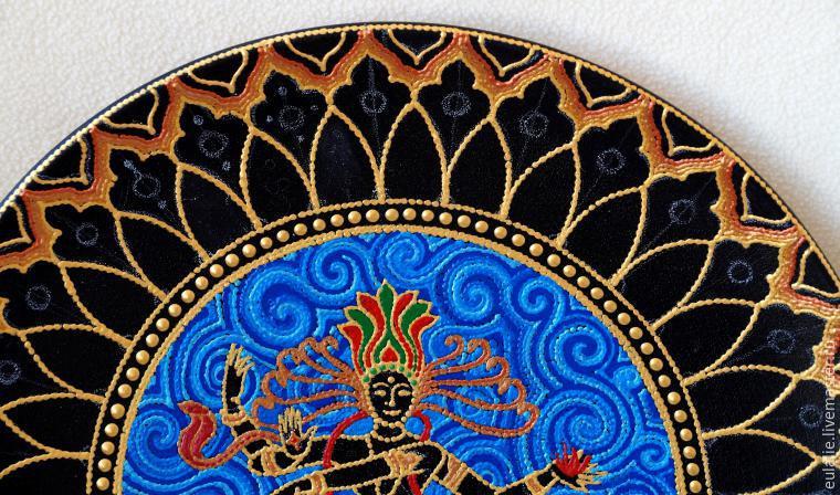 Мастер-класс по точечной росписи: тарелка-панно «танцующий Шива», фото № 13