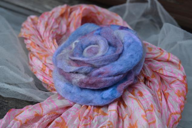 войлочный цветок, мастер-класс по валянию, как свалять розу
