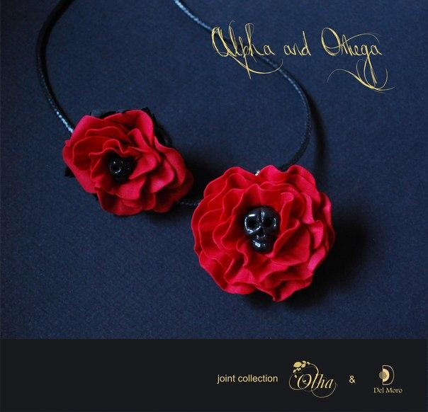 wire wrap master, украшения с камнями, бижутерия с цветами, брошь-цветок, цветы ручной работы, украшения с черепами