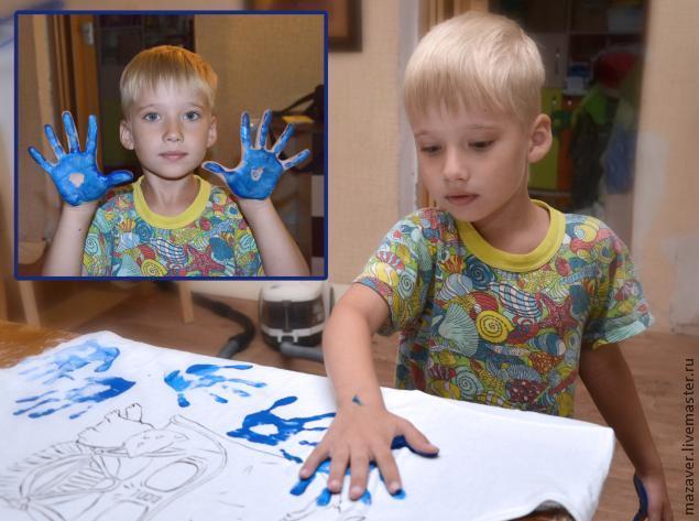 роспись по ткани, с детьми