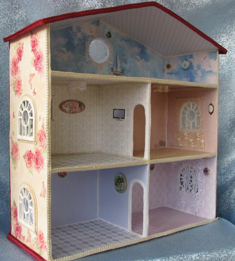 Кукольный домик своими руками пошаговое фото 25