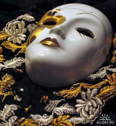 кабошон - лицо, венецанская маска