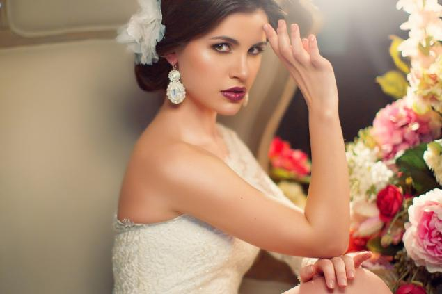 Серьги для невесты фото