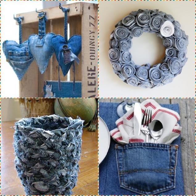 Своими руками для дома из джинса