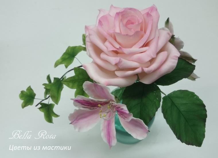 лепка цветов, холодный фарфор, сахарная мастика