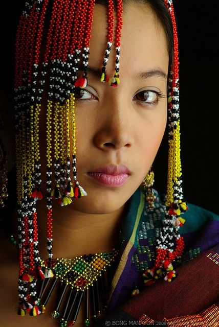 Yakan woman, a Muslim group from the Philippines