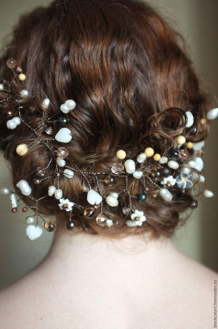 Украшение для волос из жемчуга своими руками фото 616
