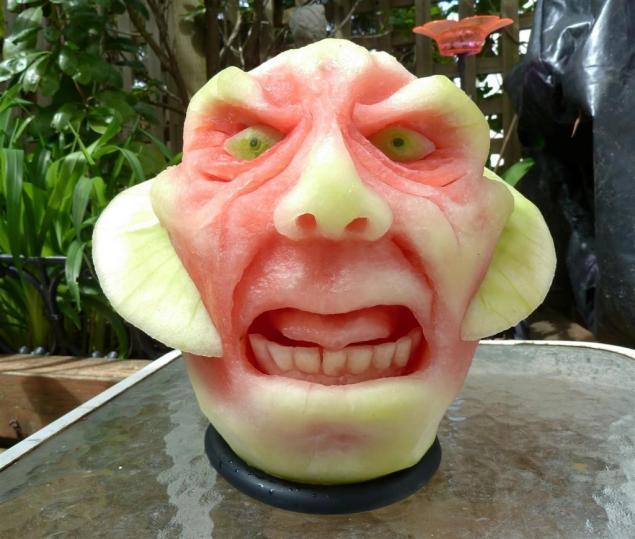 скульптуры из арбуза