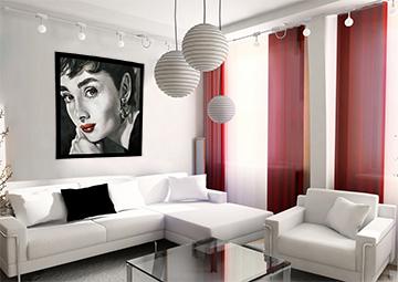 картина маслом, интерьерная композиция, современный портрет