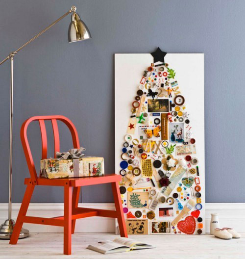 15 альтернативных новогодних елок, а также маленький мастер-класс: делаем симпатичную елочку сами