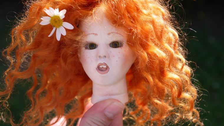 кукла в стиле антик