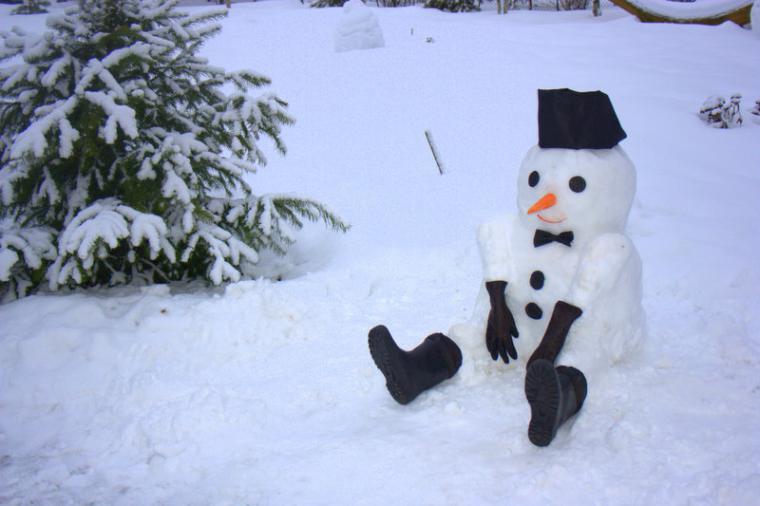 игры, зима, природа, снеговики