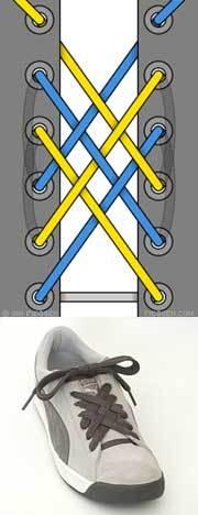 Оригинальные способы шнуровки ботинок. Виды и способы шнуровки., фото № 12