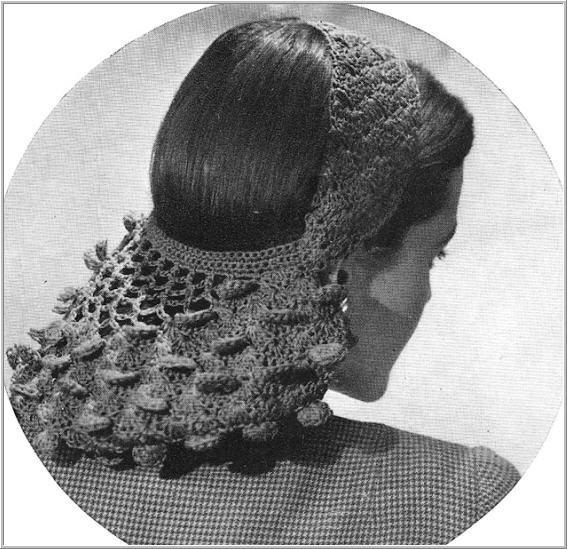 вяжем сеточку для волос крючком
