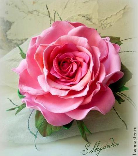 Мастер класс видео роза из фоамирана