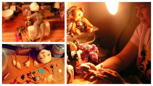 кукла, елисеева алена, авторская кукла, в процессе, мастерская, моменты рождения куклы