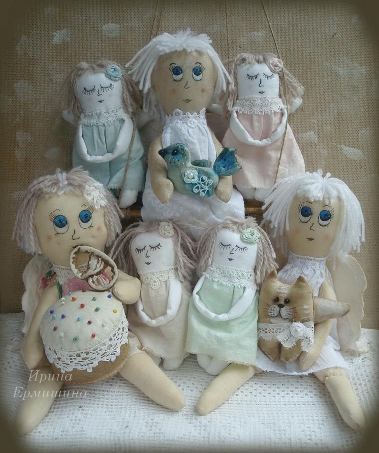 ангелы куклы ручной работы